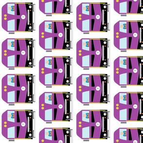 """MBTA purple train - commuter rail """"T"""""""