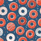 Red and Blue Donut Rings Henrietta Donuts, Phishman, Phish Inspired, Fishman Dress Pattern, Phish