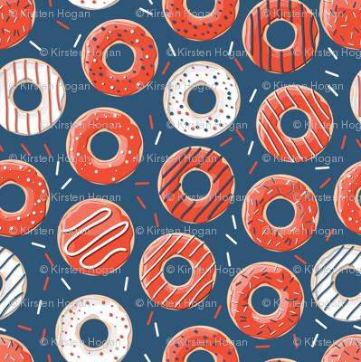 Phish Red and Blue Donut Rings Henrietta Donuts, Phishman, Phish Inspired, Fishman Dress Pattern, Phish