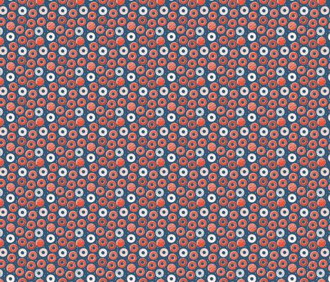 Phish Red and Blue Donut Rings Henrietta Donuts, Phishman, Phish Inspired, Fishman Dress Pattern, Phish fabric by khaus on Spoonflower - custom fabric
