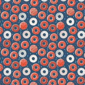 Phish Red and Blue Donut Rings Henrietta Donuts, Phishman, Phish Inspired, Fishman Dress Pattern, Phish