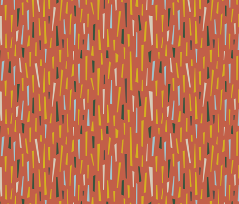 Abstract Confetti in Cozy Fall Colours fabric by crowlands on Spoonflower - custom fabric