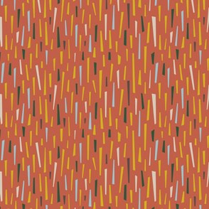 Abstract Confetti in Cozy Fall Colours