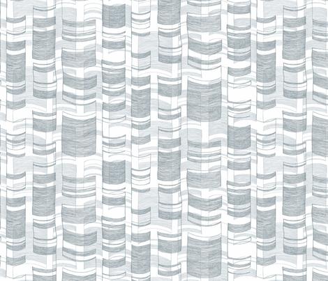 Modern Birch in Blue fabric by pattern_pod on Spoonflower - custom fabric