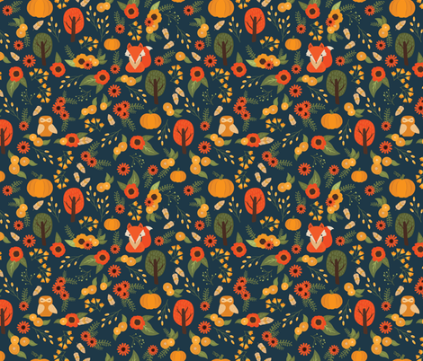 Foxy Fall  fabric by mintedtulip on Spoonflower - custom fabric