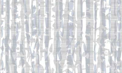 Abstract Birch in Gray and Blue