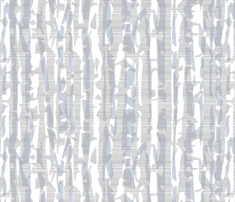 Abstract Birch in Gray and Blue fabric by pattern_pod on Spoonflower - custom fabric