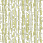 Abstract Birch in Green and Gray