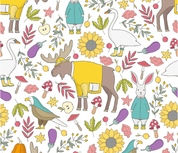 RUSTIC_FALL fabric by julia_dreams on Spoonflower - custom fabric