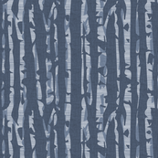 Abstract Birch in Blue