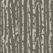 Abstract Birch in Brown