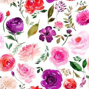 "6"" BRIGHT Watercolor Floral"
