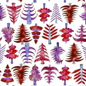 """6"""" Red Christmas Trees"""