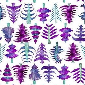 """6"""" Purple Christmas Trees"""