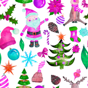 """6"""" PINK Santa Reindeer"""