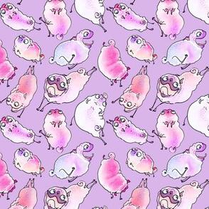 Cupid Pugs - purple