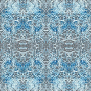 Blue, white and grey abstract design pattern