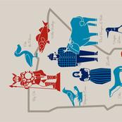 Minnesota Icons tea towel