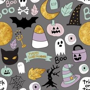 "6"" Pastel Halloween Grey"