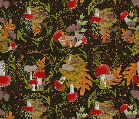 Forest Floor fabric by popelephant on Spoonflower - custom fabric