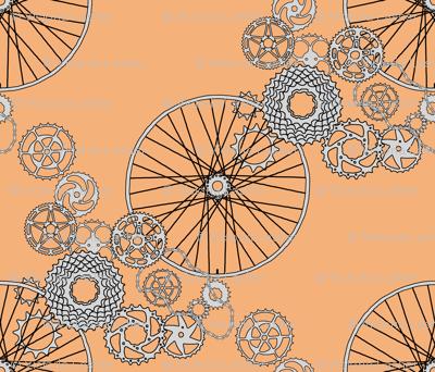 "Beautiful bicycle parts - 42 inch yard - ""copper"" - F5B17A"