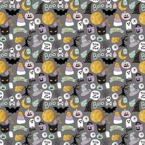 "2"" Pastel Halloween Grey"
