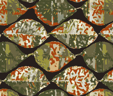 rusty autumn magnolia leaves fabric by lfntextiles on Spoonflower - custom fabric