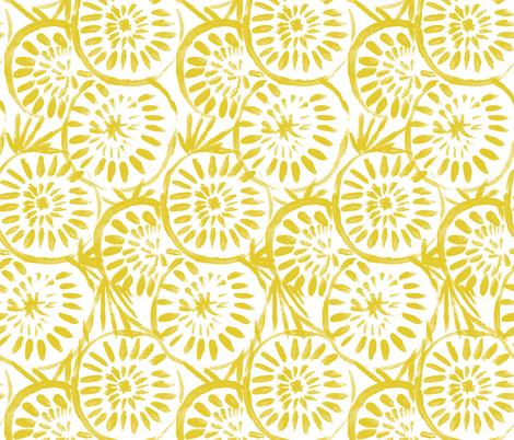 Medallions_Yellow fabric by crystal_walen on Spoonflower - custom fabric