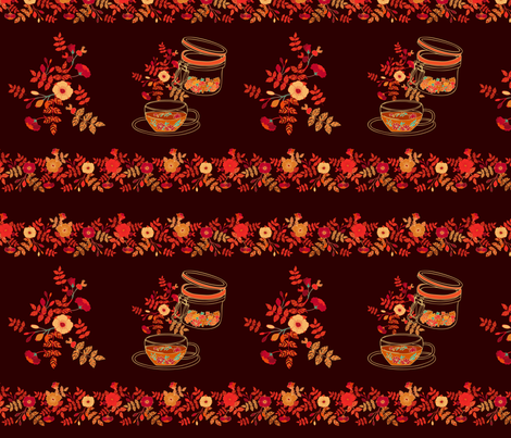 Teatowels autumn print fabric by dariara on Spoonflower - custom fabric