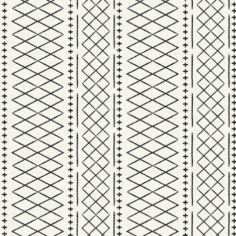 flint vintage moroccan (small scale) on bone fabric by littlearrowdesign on Spoonflower - custom fabric