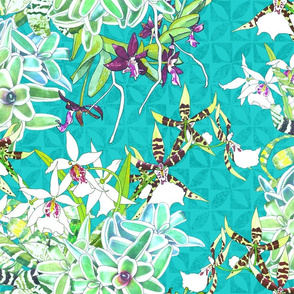Orchid Jungle IV Teal 200