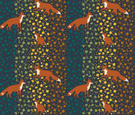 foxes fabric by annaboo on Spoonflower - custom fabric