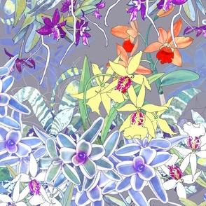 Orchid Jungle III Gray 175