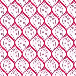 Ogee Fuchsia and White Upholstery Fabric
