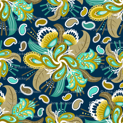 Painted Paisley (3)
