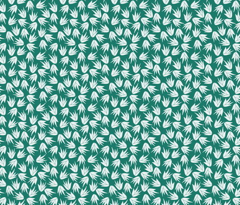 succulent aloe vera teal fabric by ninaemme on Spoonflower - custom fabric