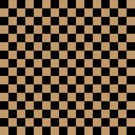 Half Inch Black and Camel Brown Checkerboard Squares fabric by mtothefifthpower on Spoonflower - custom fabric