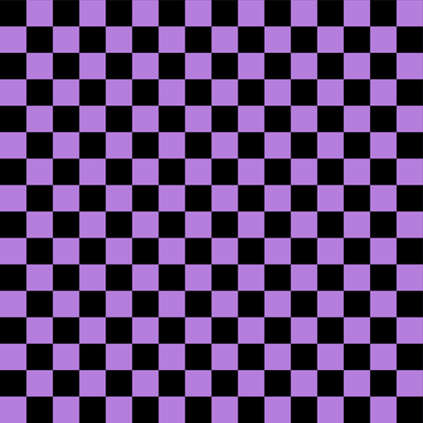 Half Inch Black and Lavender Purple Checkerboard Squares fabric by mtothefifthpower on Spoonflower - custom fabric