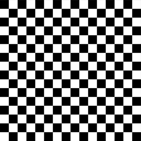 Half Inch Black and White Checkerboard Squares fabric by mtothefifthpower on Spoonflower - custom fabric