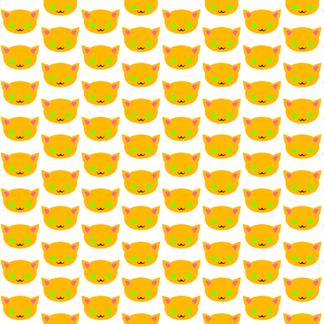 Cat Head fabric by jadegordon on Spoonflower - custom fabric