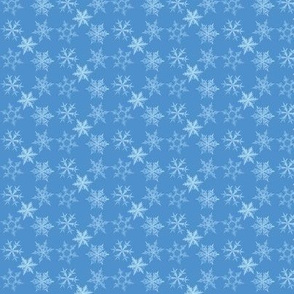 snowflakes, bluesy blue