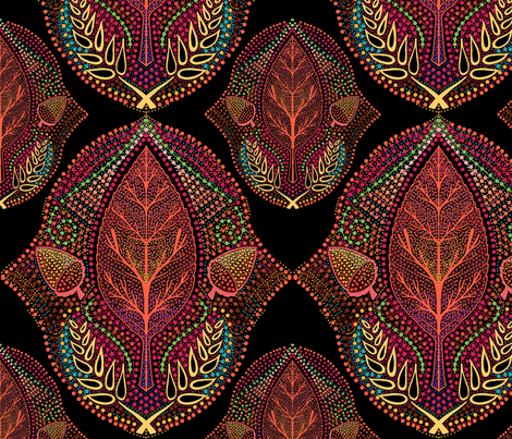 Rustic autumn ogee fabric by beesocks on Spoonflower - custom fabric