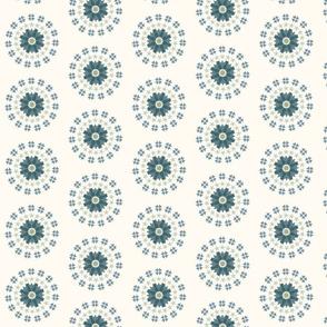 Swedish Flower Circles muted