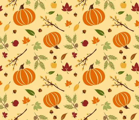 Crisp Fall Air fabric by nikijin on Spoonflower - custom fabric