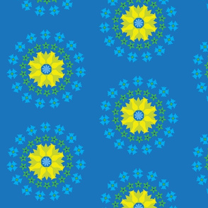 Swedish Flower Circles blue