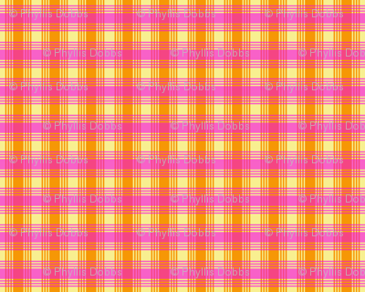 Orange Fuchsia Pink Yellow Plaid