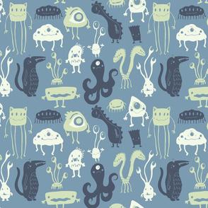 Little Monsters - Medium Blue