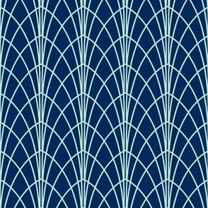 Arcada - Modern Geometric Navy Blue & Mint