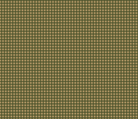 Dark Green Tan Check Plaid fabric by phyllisdobbs on Spoonflower - custom fabric
