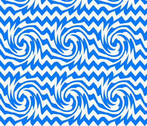 triple_whirl_and_pinch_pattern_bright_blue fabric by possumspatch on Spoonflower - custom fabric